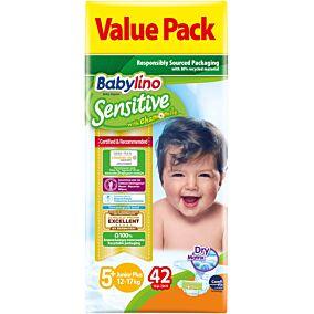 Πάνες BABYLINO Sensitive No.5+ 13-27kg (42τεμ.)