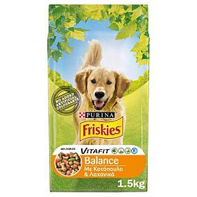 Ξηρά τροφή FRISKIES σκύλου με κοτόπουλο και λαχανικά (1,5kg)