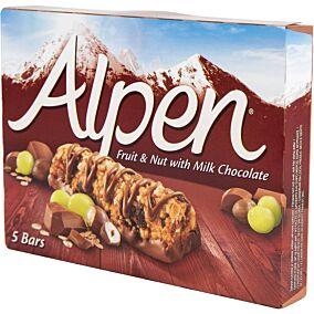 Μπάρα δημητριακών ALPEN fruit and nut with milk chocolate (5τεμ.)