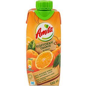 Φυσικός χυμός AMITA πορτοκάλι (330ml)
