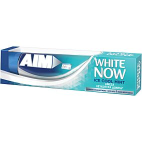 Οδοντόκρεμα AIM white now ice cool mint (75ml)