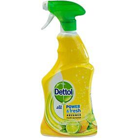 Πολυκαθαριστικό και απολυμαντικό DETTOL power and fresh sparkling lemon & lime, υγρό (500ml)
