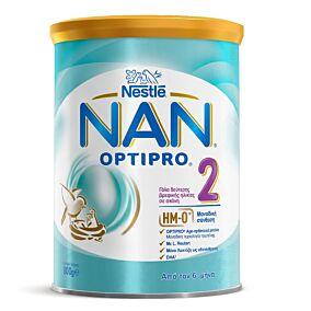 Γάλα σε σκόνη NESTLE NAN 2 optipro για παιδιά 2ης βρεφικής ηλικίας (800g)