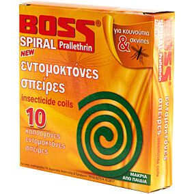 Εντομοαπωθητικό BOSS spiral φιδάκι (10τεμ.)