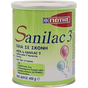 Γάλα σε σκόνη ΓΙΩΤΗΣ Sanilac 3 για παιδιά 12+ μηνών (400g)