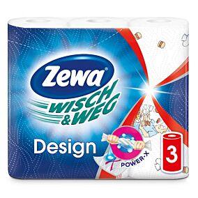 Ρολό κουζίνας ZEWA WISCH & WEG design (3τεμ.)