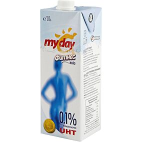 Γάλα MY DAY μακράς διαρκείας 0,1% λιπαρά (1lt)