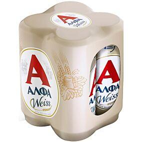 Μπύρα ΑΛΦΑ weiss (4x500ml)