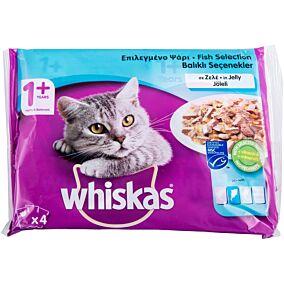 Τροφή WHISKAS γάτας ζελέ (100g)