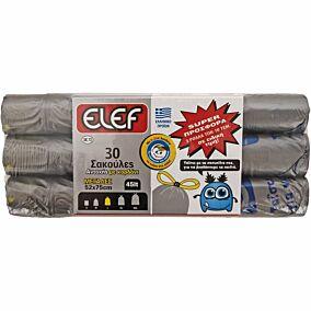 Σακούλες απορριμμάτων ELEF μεγάλες με κορδόνι 52x75cm (3x10τεμ.)