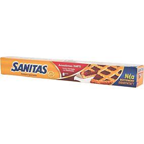 Αντικολλητικό χαρτί SANITAS ψησίματος 8m (24τεμ.)