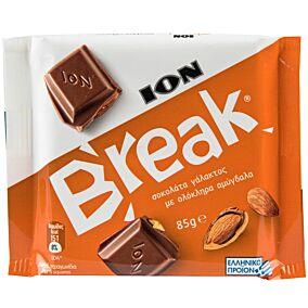 Σοκολάτα ΙΟΝ Break γάλακτος με αμύγδαλο (12x85g)