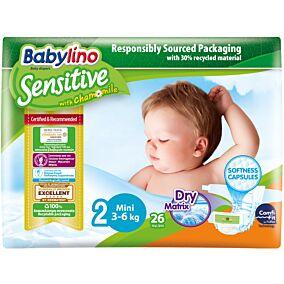 Πάνες BABYLINO Sensitive No.2, 3-6kg (26τεμ.)