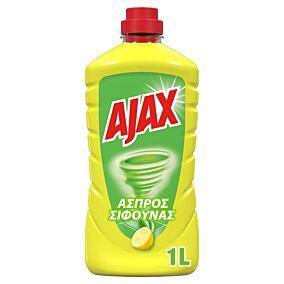 Καθαριστικό AJAX άσπρος σίφουνας με άρωμα λεμόνι, υγρό (1lt)