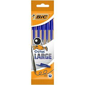Στυλό διαρκείας BIC cristal large μπλε (5τεμ.)