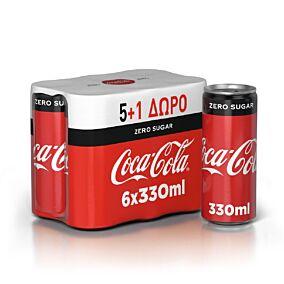 Αναψυκτικό COCA COLA zero (6x330ml)