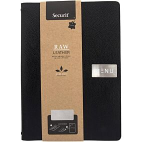 Θήκη μενού SECURIT ECO Leather, A4, μαύρη