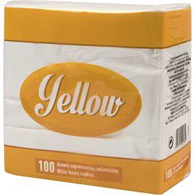 Χαρτοπετσέτες YELLOW λευκές 38x38cm (100τεμ.)