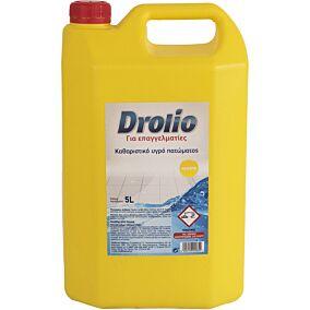 Καθαριστικό DROLIO professional για το πάτωμα με άρωμα λεμόνι, υγρό (5lt)