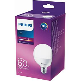 Λάμπα PHILIPS LED 9,5W E27 G93