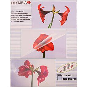Φύλλα πλαστικοποίησης OLYMPIA A3,125 mic,50 φύλλα