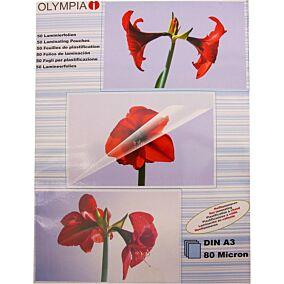Φύλλα πλαστικοποίησης OLYMPIA A3,80 mic,50 φύλλα