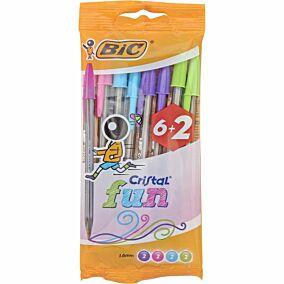 Στυλό διαρκείας BIC cristal fashion (8τεμ.)