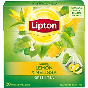 Τσάι LIPTON πράσινο με άρωμα λεμόνι καραμέλα (20x1,6g)