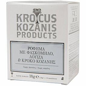Αφέψημα KROCUS KOZANIS με φασκόμηλο, λουίζα και κρόκο Κοζάνης (10τεμ.)