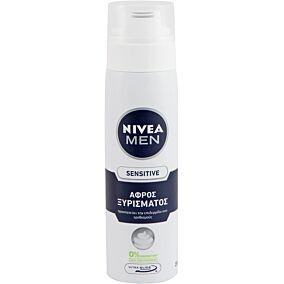 Αφρός ξυρίσματος NIVEA men sensitive 0% οινόπνευμα (250ml)