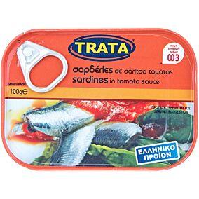 Κονσέρβα TRATA σαρδέλες σε σάλτα τομάτας σε συσκευασία easy open (100g)