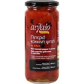 Πιπεριά ΑΙΓΑΙΟ κόκκινη ψητή (450g)