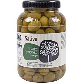 Ελιές SATIVA πράσινες No.111-120 (1kg)