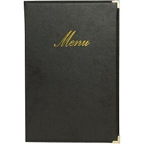 Θήκη μενού SECURIT Classic, Α4, μαύρη, 4 σελίδες