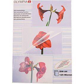 Φύλλα πλαστικοποίησης OLYMPIA A4,125 mic,100 φύλλα