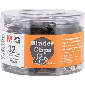 Πιάστρες M&G μαύρες 32mm (24τεμ.)