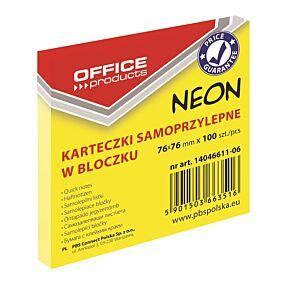 Μπλοκ Office PR με αυτοκόλλητα χαρτάκια neon 76x76cm