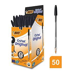 Στυλό διαρκείας BIC cristal μαύρα (50τεμ.)