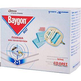 Εντομοαπωθητικό BAYGON protector ηλεκτρική συσκευή, με 10 ταμπλέτες