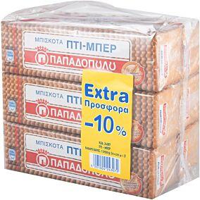 Μπισκότα ΠΑΠΑΔΟΠΟΥΛΟΥ ΠΤΙ ΜΠΕΡ (6x225g)