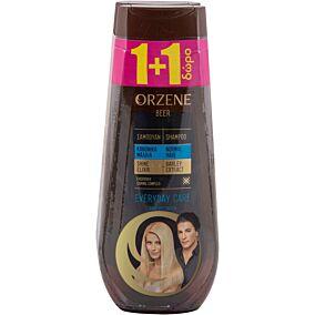 Σαμπουάν ORZENE μπύρας για κανονικά μαλλιά 1+1ΔΩΡΟ (2x400ml)