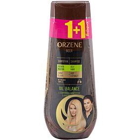 Σαμπουάν ORZENE μπύρας για λιπαρά μαλλιά 1+1ΔΩΡΟ (2x400ml)
