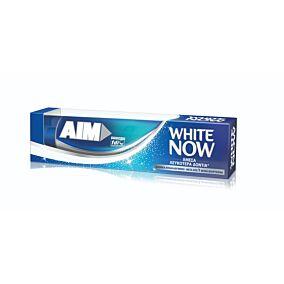 Οδοντόκρεμα AIM white system (2x75ml)
