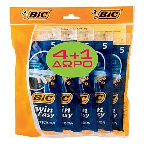 Ξυραφάκια BIC twin easy μιας χρήσης (5x5τεμ.)