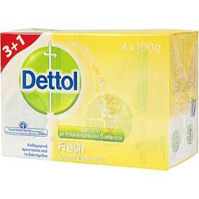 Σαπούνι DETTOL Fresh πλάκα (4x100g)
