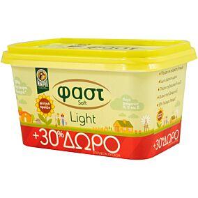 Μαργαρίνη ΜΙΝΕΡΒΑ φαστ soft light +30% ΔΩΡΕΑΝ προϊόν (250g)