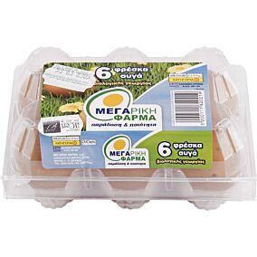 Αυγά ΜΕΓΑΡΙΚΗ ΦΑΡΜΑ φρέσκα βιολογικά (6x53-63g)