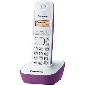 Τηλέφωνο PANASONIC KX-TG1611 ασύρματο, white & purple