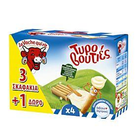 Τυρί LA VACHE QUI RIT τυροβουτιές 3+1 ΔΩΡΟ (140g)
