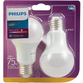 Λάμπα PHILIPS LED 11W A60 E27 (2τεμ.)